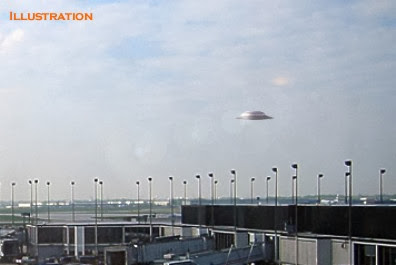 Flying Saucer Hovering Over O'Hare