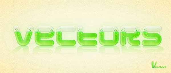 Create a Glassy Text Effect Filled with a Green