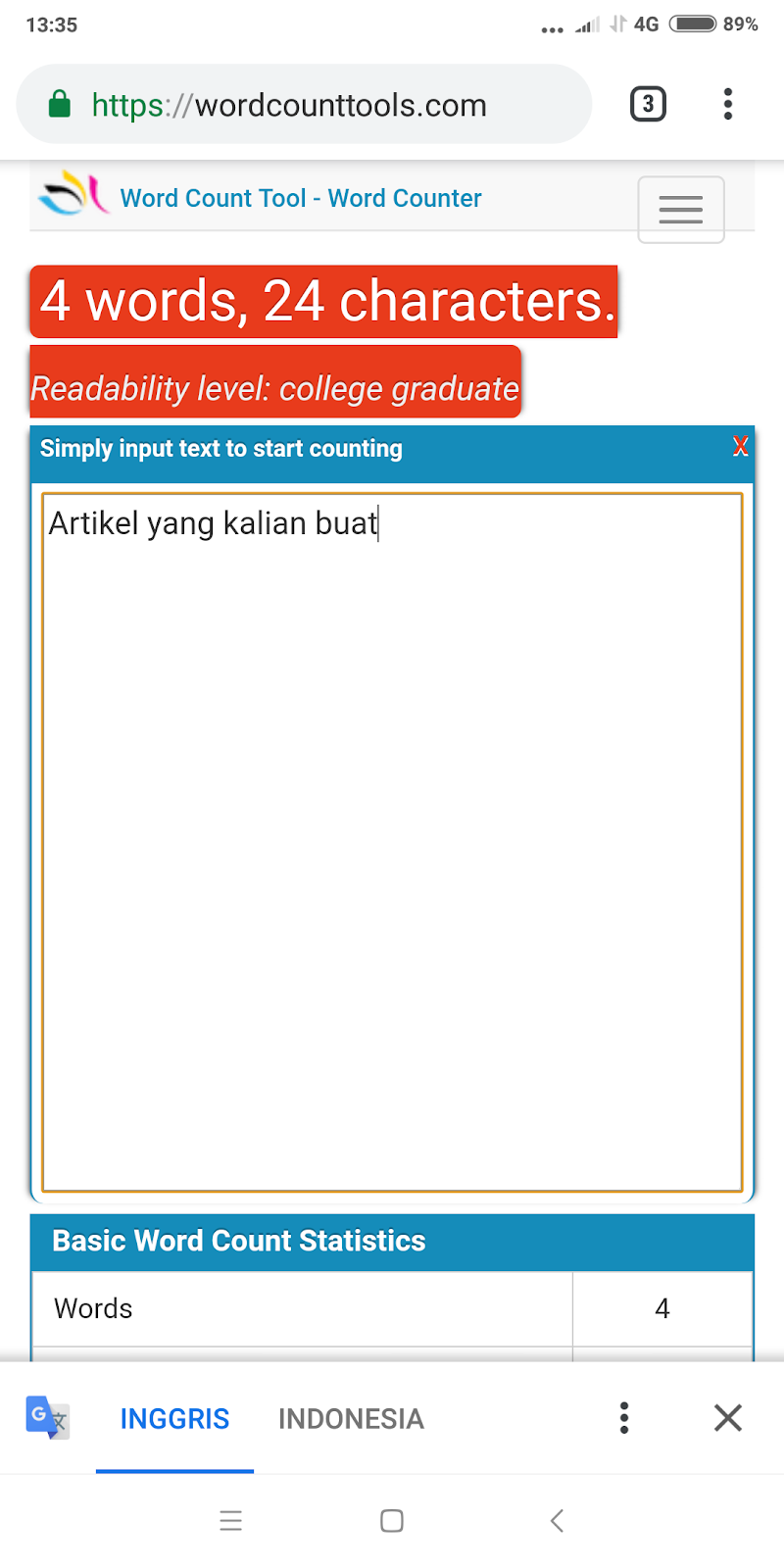 Cara menghitung jumlah kata di Android tanpa menggunakan aplikasi ...