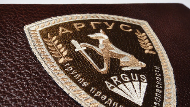 Логотип компании, инициалы владельца - машинная вышивка на заказ. Подарок мужчине, подарок руководителю.