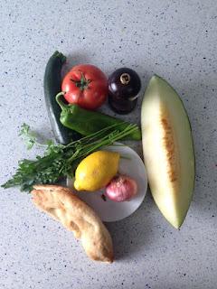 Ingredientes panzanella