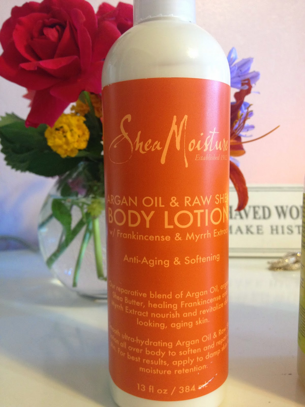 Argan Oil & Raw Shea Body Lotion Frankincense & Myrrh Extract ($8.99)