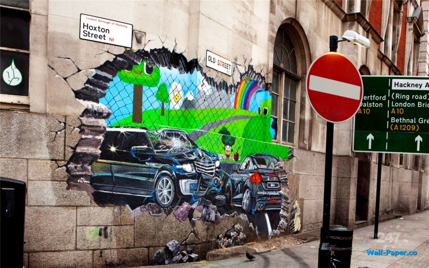 foto de Street Art Motorola 3D Graffiti Wallpaper | Wallpaper Background HD