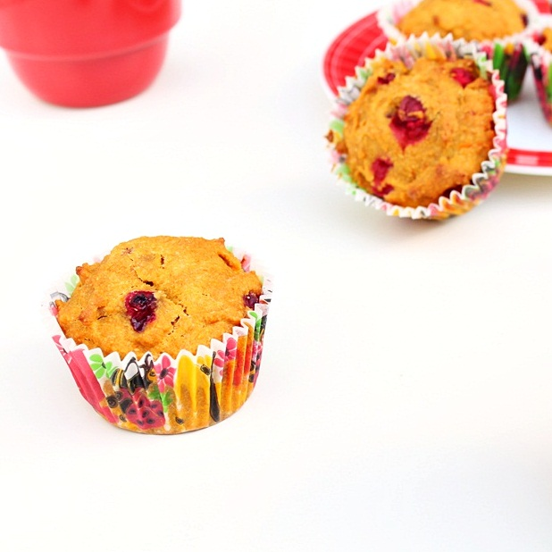 Pumpkin Cranberry Muffins | Roxanashomebaking.com