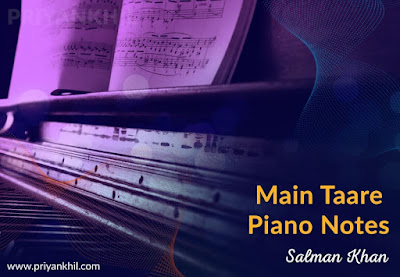 Main Taare Piano Notes