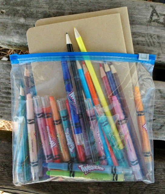 supplies for nature journals
