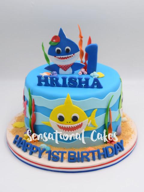 The Sensational Cakes Baby Shark Underwater For 1st Birthday Theme