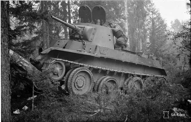 A Finnish soldier on a captured Soviet BT-7 tank, 21 July 1941 worldwartwo.filminspector.com