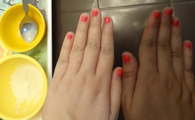تبيض اليدين وتنعيمها