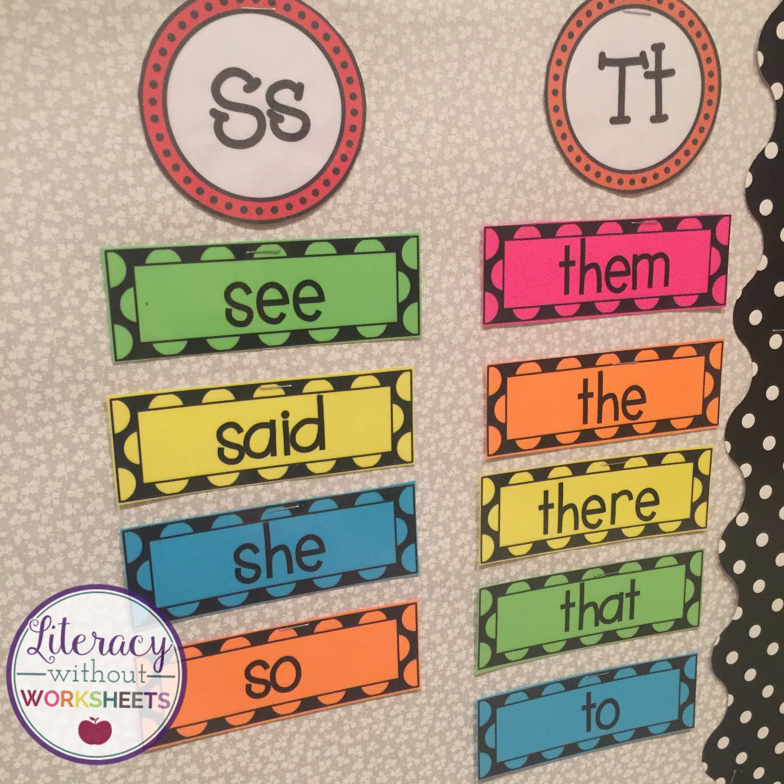 Word Wall Ideas Freebies Included