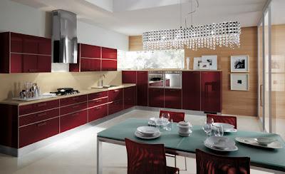 8 cocinas color rojo italianas modernas ideas para for Spinelli arredamenti