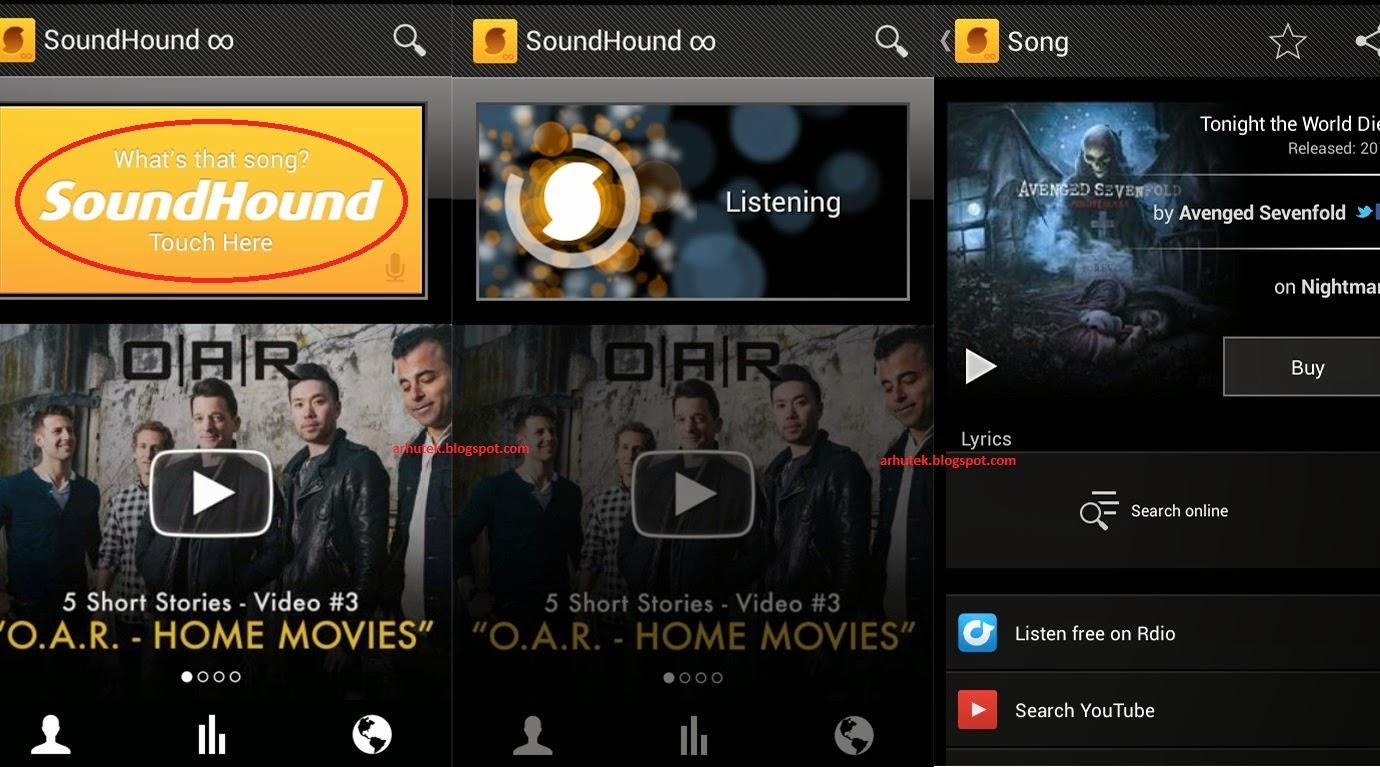 Cara Mengetahui Judul Lagu & Penyanyinya (Review SoundHound)