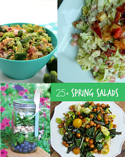 Country Fair Blog Party Blue Ribbon Winner: Ally's Sweet & Savory Eats 25+ Spring Salads