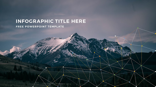 Infographic Linear Apstract Background and Title Free PowerPoint Template Slide 5
