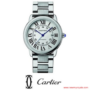 Kate Middleton jewelery Cartier Stainless Steel Large Bracelet Watch