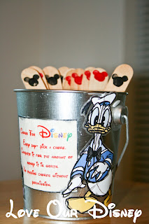 This fun chore bucket is a great way for kids to earn money for Disney. LoveOurDisney shows you how to make one for $3 or less.