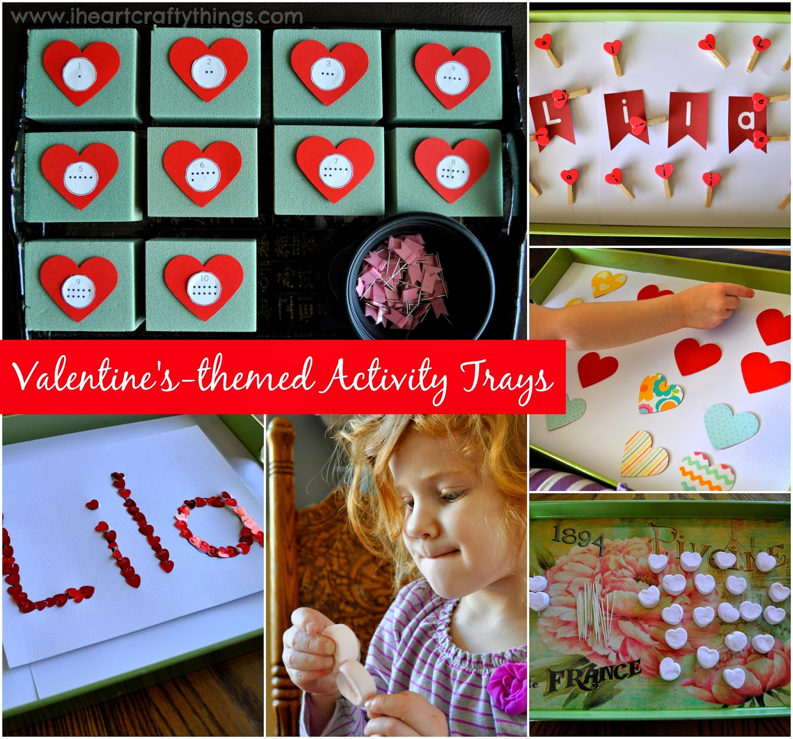 Valetine S Day Themed Preschool Activity Trays