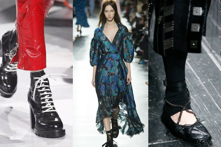 Autumn/Winter 2016 Trends- 90's Grunge, Punky Ballerinas, Chunky Boots