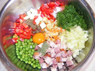 Retete mix de legume pentru rulada de curcan,