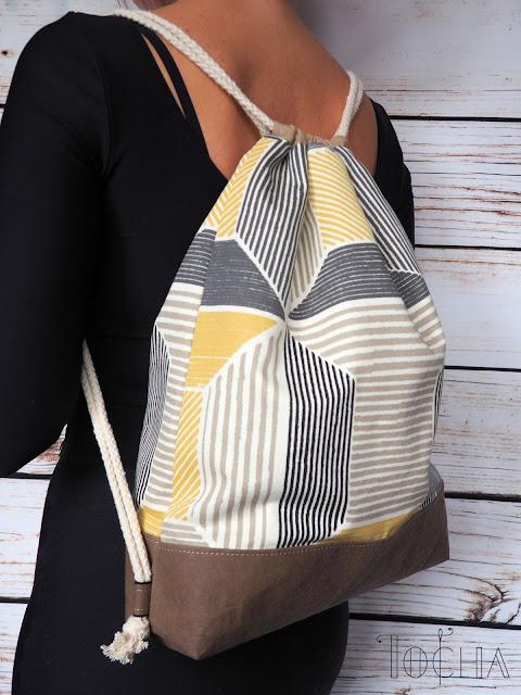 drawstring bagpack, rucksack, bag, duffel bag, duffle bag, Ikea, cotton, washpapa, washable kraft paper, Better Cotton Initiative, durable paper, cotton canvas, Birket, rope,