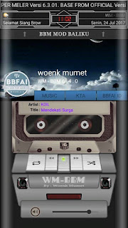 Tema BBM MOD Manual black color ala Woenk Mumet v3.3.6.51 Apk