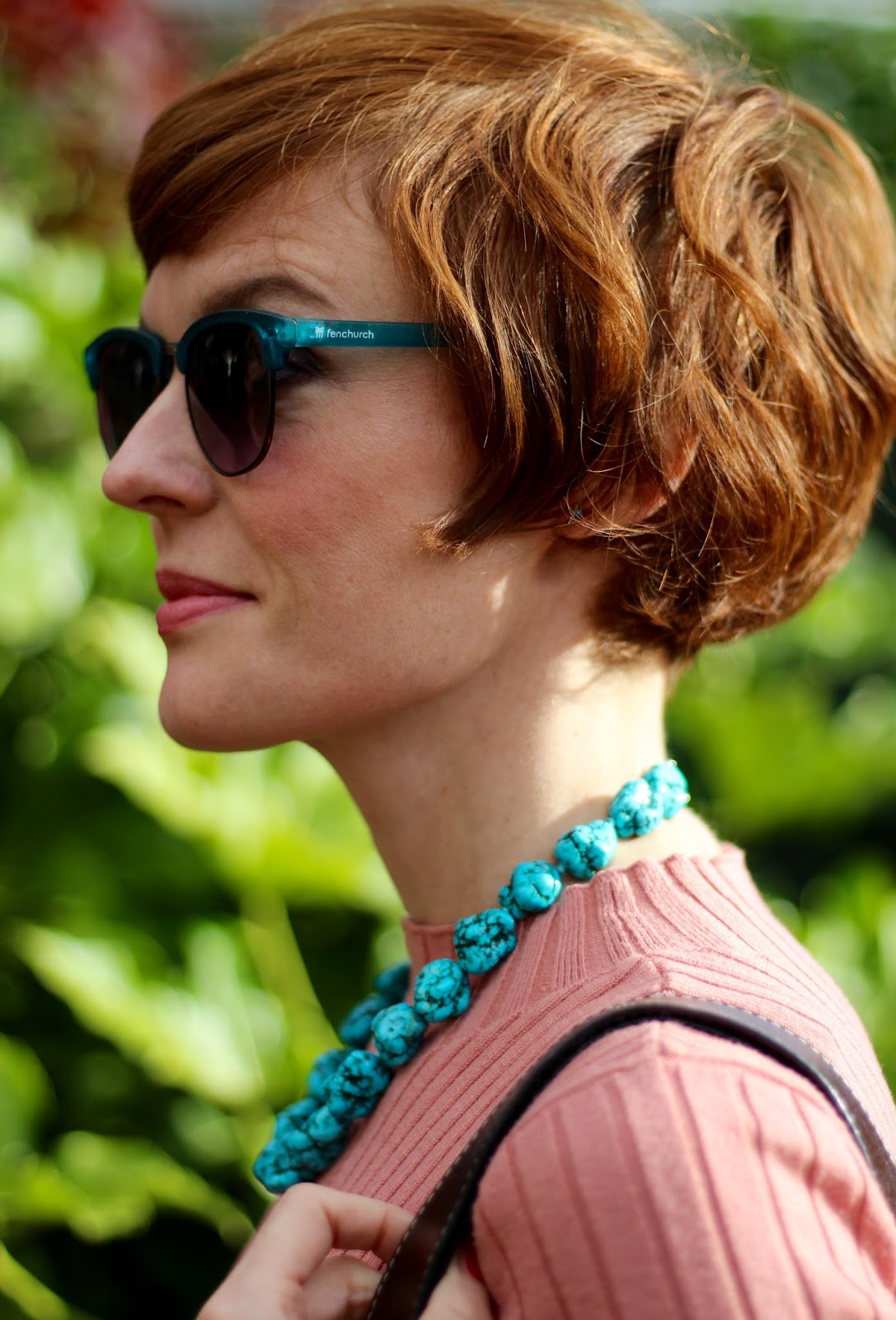 Fake Fabulous | Chunky Turquoise necklace.
