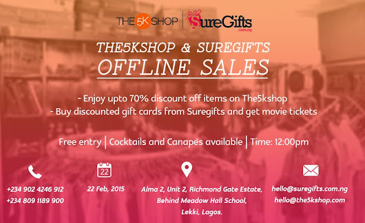 The 5K shop and Sure Gifts Offline sales offline sales