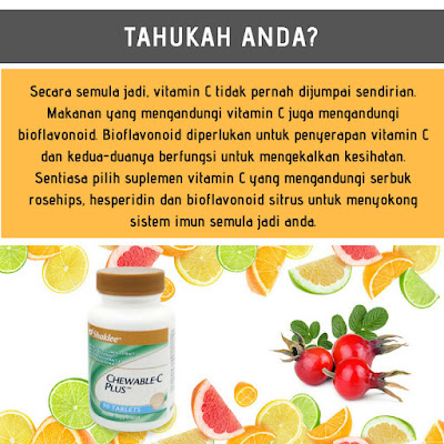 Keistimewaan Chewable C Plus Shaklee