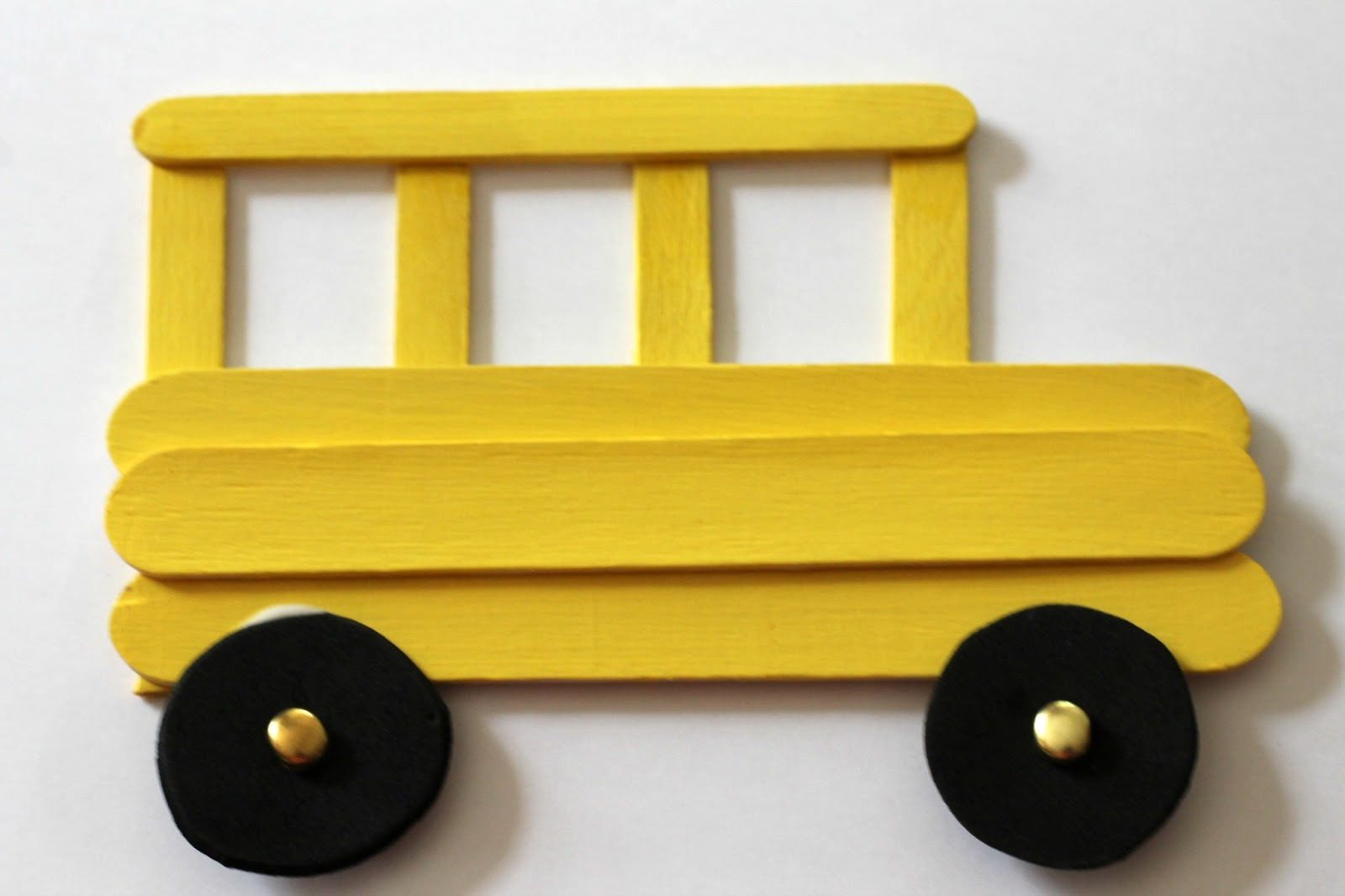 Craft Stick School Bus Frame And Back To School Books Reading Confetti