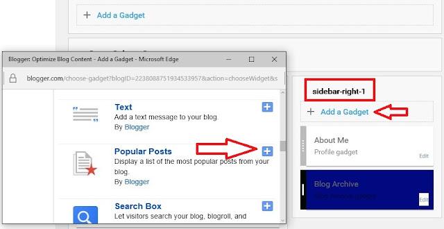 Add Popular Post Widgets For Blogger