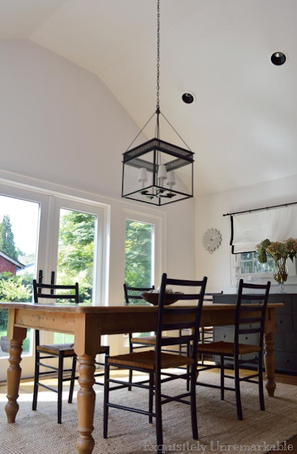 Beach cottage dining room table and chairs
