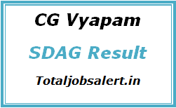 CG Vyapam SDAG Result