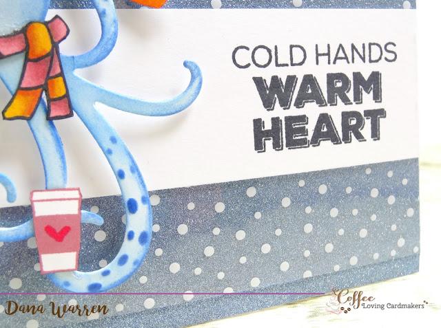 Dana Warren - Kraft Paper Stamps - Spellbinders Honey Bee Stamps Coffee