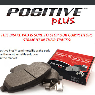 D1258: SEMI-METALLIC PAD W/KIT (POSITIVE PLUS) Front Disc Brake Pad