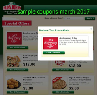 Papa Joes Pizza coupons march 2017