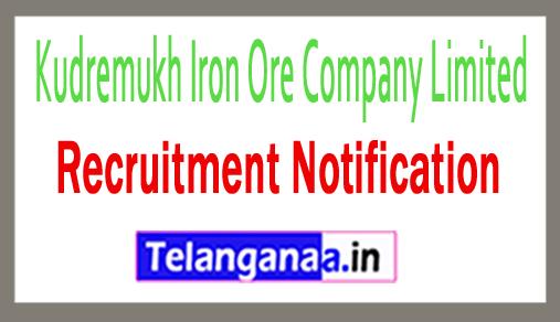 Kudremukh Iron Ore Company Limited KIOCL Recruitment