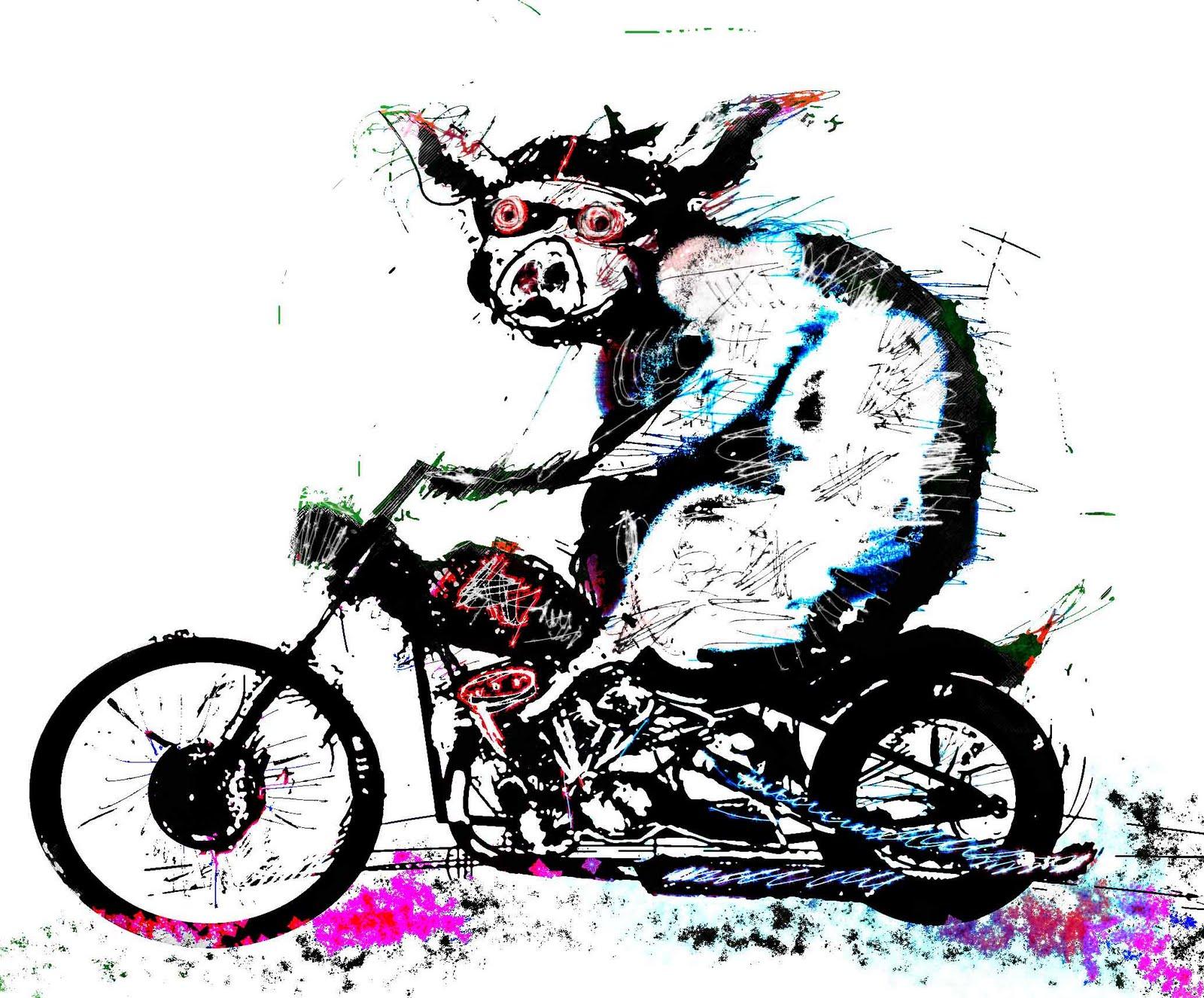 Graham Byrne Illustrations Pork Chopper