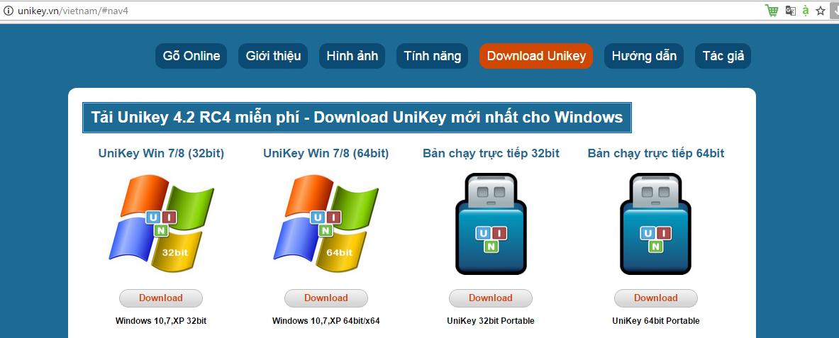 Download unikey cho windows xp.
