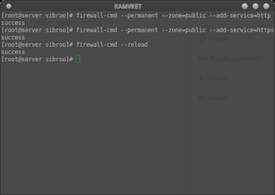 Lalu tambahkan rule firewall-cmd nya