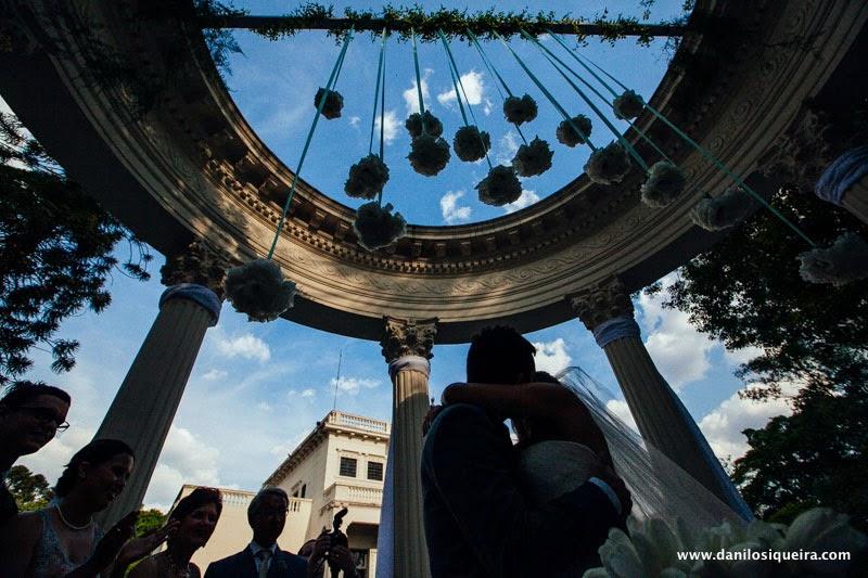 cerimonia - altar - noivos - primeiro beijo - decoracao - palacio dos cedros - casamento de dia - casamento ao ar livre