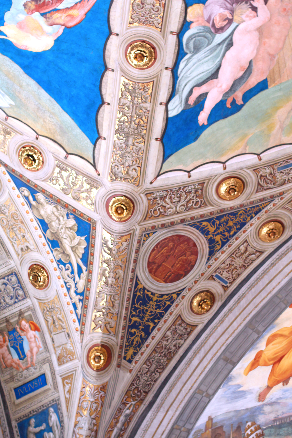 Ceiling frescoes at The Vatican, Rome - travel blog