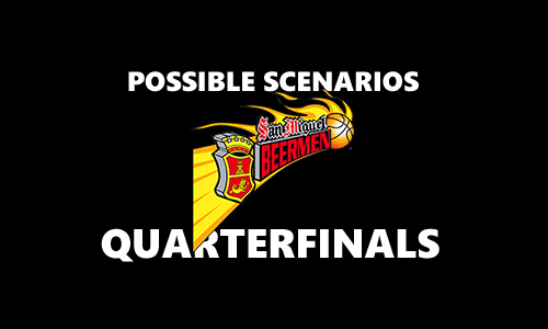 List of Quarterfinal Scenarios for San Miguel Beermen 2017 PBA Commissioner's Cup