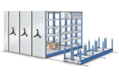 Передвижные стеллажи на мобильном основании - Производство и монтаж