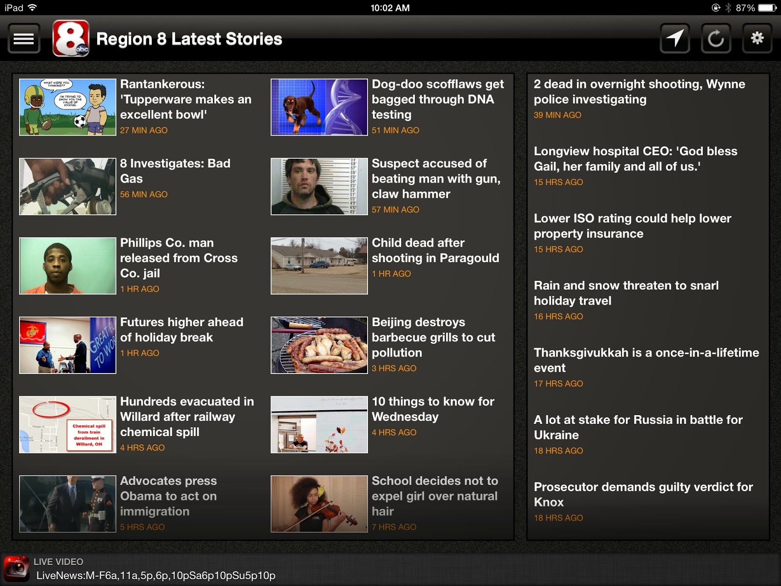 Ryan's Blog: LIVE News and Weather Video On Our Apps