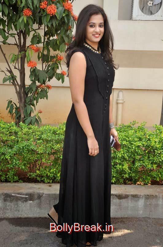 Nanditha Stills, Nanditha Hot Pics In Black Dress from Movie Krishnamma Kalipindi Iddarini Shooting Spot