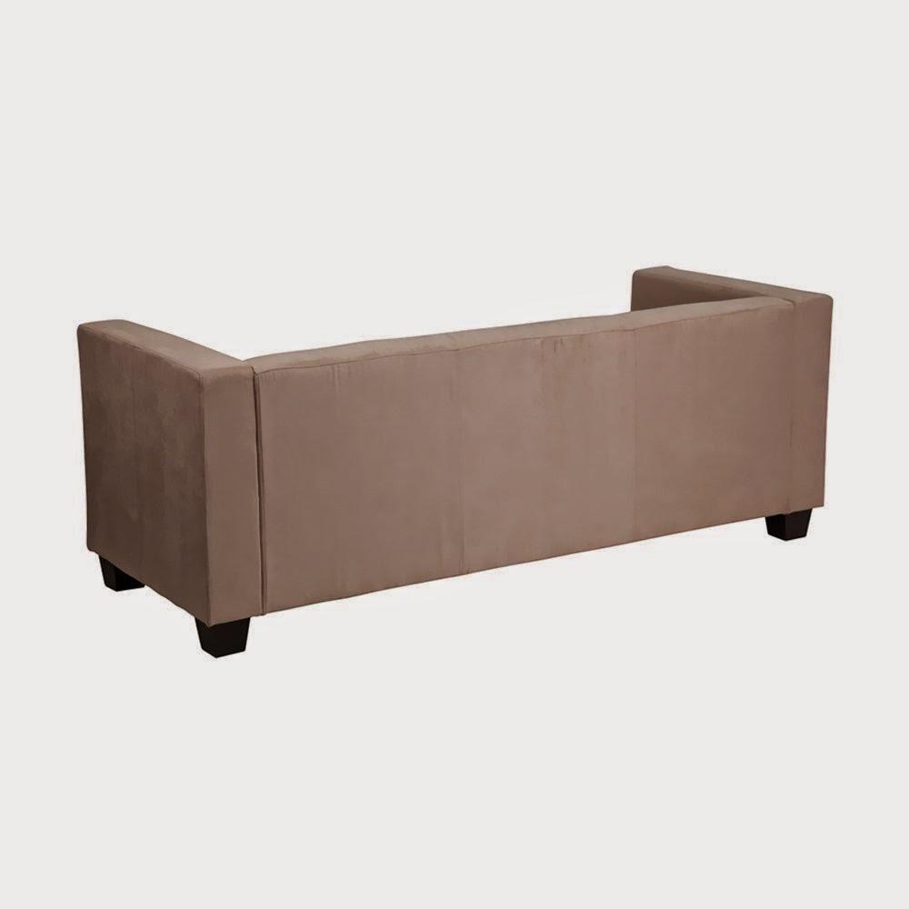 Flash Furniture Prestige Series Light Brown Microfiber Sofa