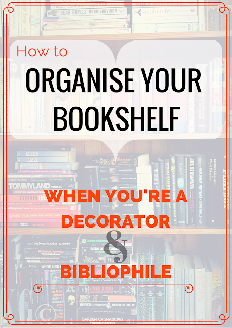 How to Organise Your Bookshelf When You're a Decorator and Bibliophile: save precious bookshelf space by arranging your books by colour