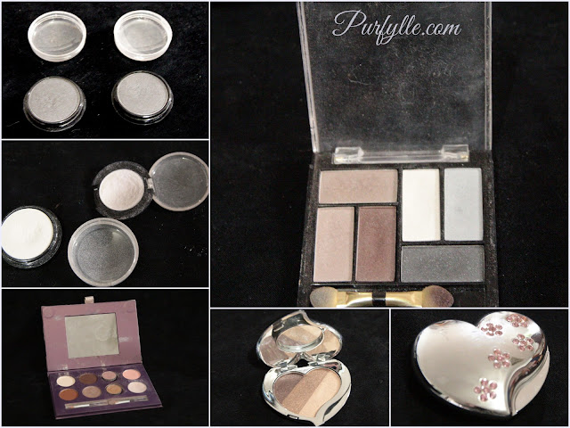 eyeshadows I actually use - although I don't like them very much, it's time to buy new