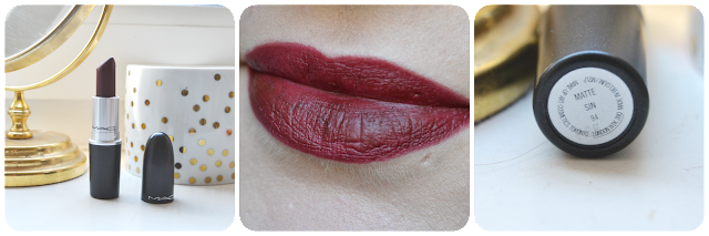 Mac, mac cosmetics, lipstick, matte, swatch, tragebild, Sin, lipswatch, swatches, dark red, burgundy, red