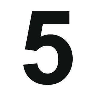 cyfra 5 do druku